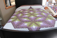 "Chrysalis Star  Quilt - 102"" by 113"""