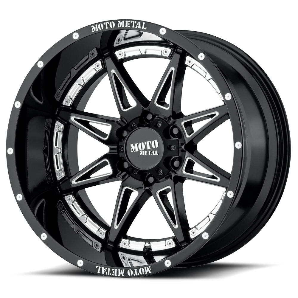 Moto Metal mo9933 hydra wheels rims gloss black milled 6 lug