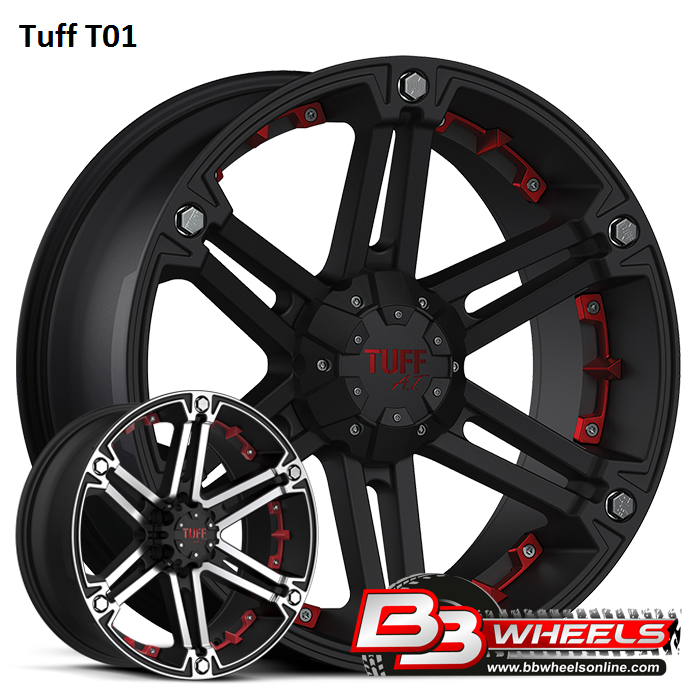 Black Tuff T01 Wheels & Rims