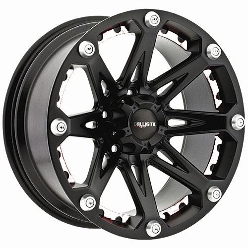 Black Ballistic Jester 814 Wheels - White Inserts