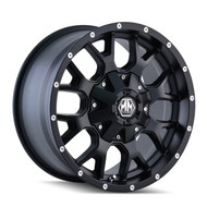 Mayhem Warrior 8015 Wheels Rims 17x7.5 Black 5x108 5x4.5 (5x114.3) 40mm | 8015-7714MB | Free Shipping!