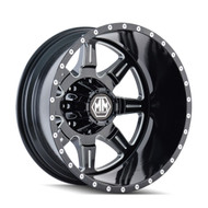 Mayhem Monstir Dually Rear Wheels Rims 19.5x6.75 Black Milled 8x6.5 (8x165.1) -143mm | 8101-9681MR121 | Free Shipping!