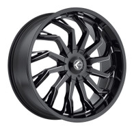 Kraze Scrilla 142 Wheels Rims 26x10 Milled Black 5x127 (5x5) 5x5.5 (5x139.7) 18mm | KR142-261025M | Free Shipping!