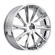 Kraze Swagg 144 Wheels Rims 26x10 Chrome 5x127 (5x5) 5x5.5 (5x139.7) 18mm | KR144-261025C | Free Shipping!