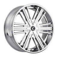 Kraze Hookah 145 Wheels Rims 26x10 Chrome 5x115 5x120 18mm | KR145-261028C | Free Shipping!