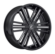 Kraze Hookah 145 Wheels Rims 26x10 Milled Black 5x115 5x120 18mm | KR145-261028M | Free Shipping!