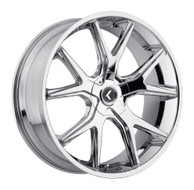 Kraze Splitz 146 Wheels Rims 26x10 Chrome 5x115 5x120 18mm | KR146-261028C | Free Shipping!