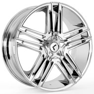Kraze Hella 157 Wheels Rims 22x8.5 Chrome 5x112 5x4.5 (5x114.3) 40mm | KR157-228520C | Free Shipping!