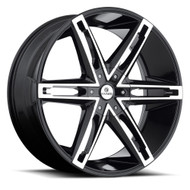 Kraze Mania 311 Wheels Rims 26x10 Machined Black 5x115 5x120 20mm | KR311-261028BMF | Free Shipping!