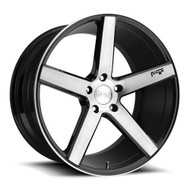 Niche Milan M124 Wheels Rims 19x8.5 Black Brushed 5x4.5 (5x114.3) 35mm | M124198565+35 | Free Shipping!