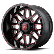 XD Series Grenade XD820 Wheels Rims 20x10 Black Red Clear 8x6.5 (8x165.1) -24mm | XD82021080924NRC | Free Shipping!