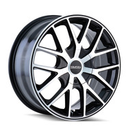 Touren TR60 Wheels Rims 17x7.5 Black Machined 5x108 5x4.5 (5x114.3) 42mm | 3260-7714B | Free Shipping!