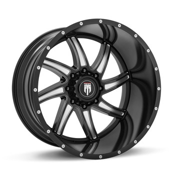 American TRUXX Vortex AT162 Wheels Rims Black 20x10 8x180 -24 | AT162-21097M