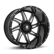 American TRUXX Vortex AT162 Wheels Rims Black 24x14 8x180 -76 | AT162-241497M
