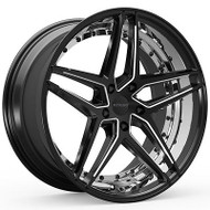 Rosso Reactiv 701 Wheels Rims Black 20x8.5 5x112 34 | 7012855634BML