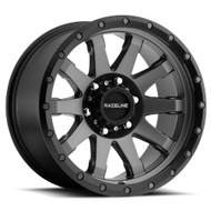 Raceline Clutch 934G 20x9 Wheels Rims Gun Metal Black Ring 18 | 934G-29060+18