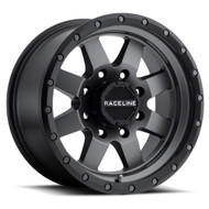 Raceline Defender 935G 17x9 Wheels Rims Gun Metal Black Ring -12 | 935G-79055-12