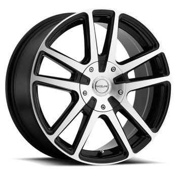Raceline Encore 145M 17x7.5 Wheels Rims Black Machined 40 | 145M-77582+40