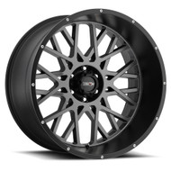 Vision Rocker 412 22X12 Wheels Rims Anthracite Black -51 | 412-22273ABL-51