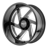 Moto Metal MO400 Forged Monoblock 22x14  Black Milled -Custom Drilled Wheel Blanks- Rims -76 | MO40022400M976NL