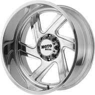 Moto Metal MO400 Forged Monoblock 20x10  Polished -Custom Drilled Wheel Blanks- Rims -24 | MO40021000L124NR