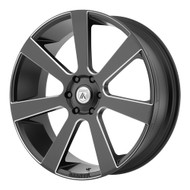 Asanti ABL-15 28x10 6x5.5 (6x139.7) Black Milled Wheels Rims 30 | ABL15-28106230BM