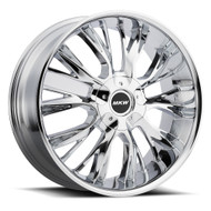 MKW M122 22x9 5x115 5x120 Chrome Wheels Rims 18 | M122-2290003218C