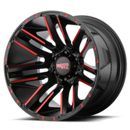 Moto Metal Razor MO978 20x10 Machined Black Red Wheels Rims 5x5.5 (5x139.7) -24 | MO97821055524NRC