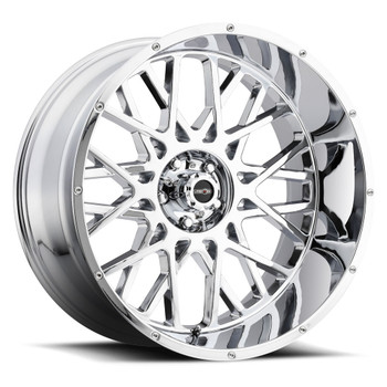 Vision Rocker 412 24X12 Chrome Wheels Rims 5x5.5 (5x139.7) -51 | 412-24285C-51