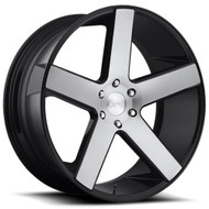 Dub ® Baller S217 Wheels Rims Black Brushed Silver 24x10 5x127 (5x5) 11 | S217240073+11