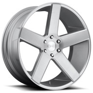 Dub ® Baller S218 Wheels Rims Brushed Silver 22x9.5 5x5.5 (5x139.7) 26 | S218229585+26