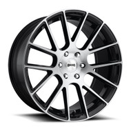 Dub ® LUXE S206 Wheels Rims Black Brushed Silver 24x9.5 6x5.5 (6x139.7) 30 | S206249577+30