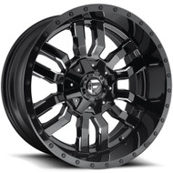 Fuel ® Sledge D595 Wheels Rims Milled Black 22x12 6x135 6x5.5 (6x139.7) -44 | D59522209847