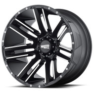 Moto Metal Razor MO978 Wheel Black Machined 20x9 6x120 18mm Offset-FREE LUGS