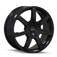 Touren ® TR65 Wheels Rims Black 17x7.5 6x120 6x132 30 | 3265-7790B