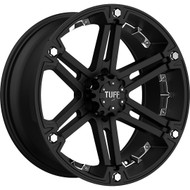 Tuff ® T01 Wheels Rims Black w/ Chrome Inserts 18X9 6x4.5 (6x114.3) 6x127 (6x5) 10 | 1890T01106D47M78C