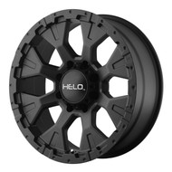 "HELO HE878 Wheels 17X9 8X6.5"" ( 8X165.1 ) Black -12 