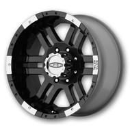 "Moto Metal MO951 Wheels 16X8 6X5.5"" ( 6X139.7 ) Black +0 