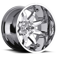 "FUEL OCTANE D508 WHEELS 20X9 5X5.5"" ( 5X139.7 ) & 5X150 +20MM CHROME 