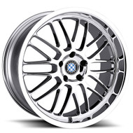 Beyern Mesh 20x8.5 5x120 Chrome 40 Wheels Rims | 2085BYM405120C72