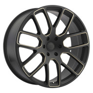 Black Rhino Kunene Wheel Matte Black W/ Dark Tint Milled Spokes 22x9.5 6x5.5 (6x139.7) 12mm