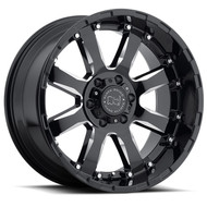 Black Rhino Sierra 17x9 6x5.5 6x139.7 Gloss Black 12 Wheels Rims | 1790SRA126140B12