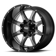 Moto Metal MO970 17x8 6x120 6x5.5 6x139.7 Grey Black Lip 0 Wheels Rims | MO97078078400