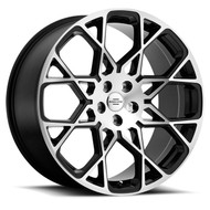Redbourne Meridian 22x10 5x120 Gloss Black 37 Wheels Rims | 2210RDE375120F72