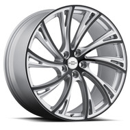 Redbourne Noble 22x10 5x120 Silver 37 Wheels Rims | 2210RDB375120S72R