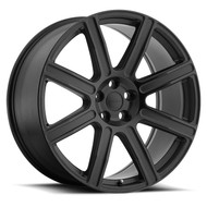 Redbourne Wilks 22x10 5x120 Matte Black 37 Wheels Rims | 2210RDW375120M72