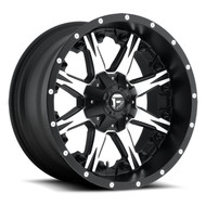 "FUEL NUTZ D541 WHEELS 20X10 8X6.5"" ( 8X165.1 ) -12MM BLACK MACHINED 