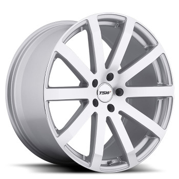 Tsw Brooklands 19x8 5x112 Silver 45 Wheels Rims | 1980BRK455112S72