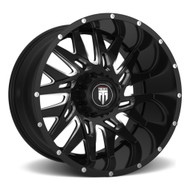 American Truxx DNA AT184 26X14 8x6.5 8x165.1 Milled Black -76 Wheels Rims | AT184-261491M