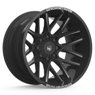 Dropstars 654BM 22x14 8x6.5 8x165.1 Black Milled -76 Wheels Rims | 654BM-2248176